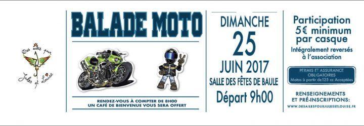 Balade Moto Association Des ailes pour Jules et Louise 25 Juin 2017