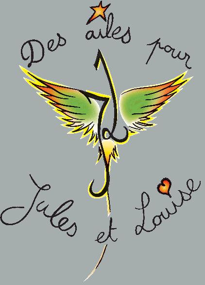 Logo de l'association Des ailes pour Jules et Louise