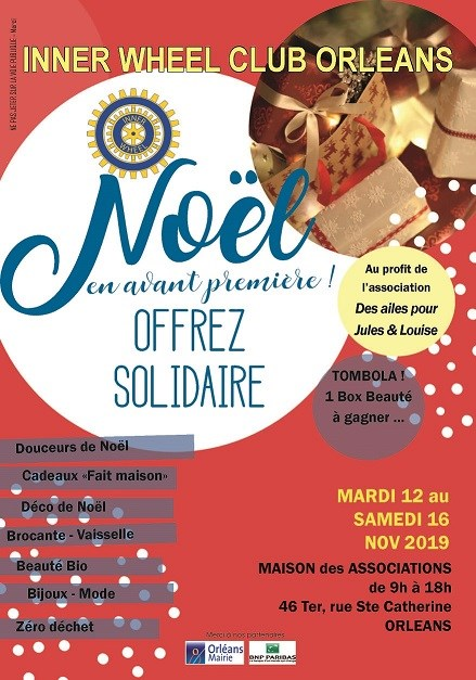Affiche marché de Noël Inner wheel